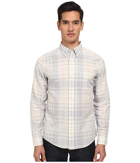 Jack Spade - Graph Plaid Shirt (Natural) Men