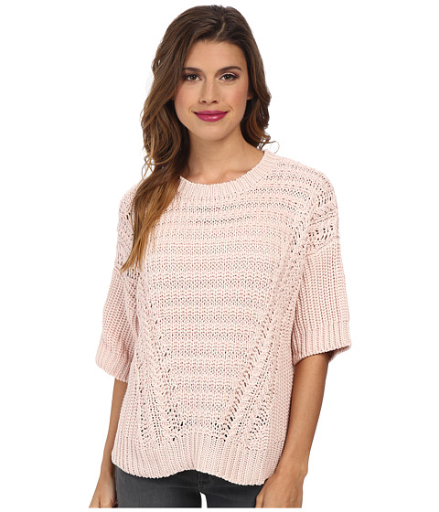 Autumn Cashmere - Boxy Shaker Stitch Sweater (Fairy) Women