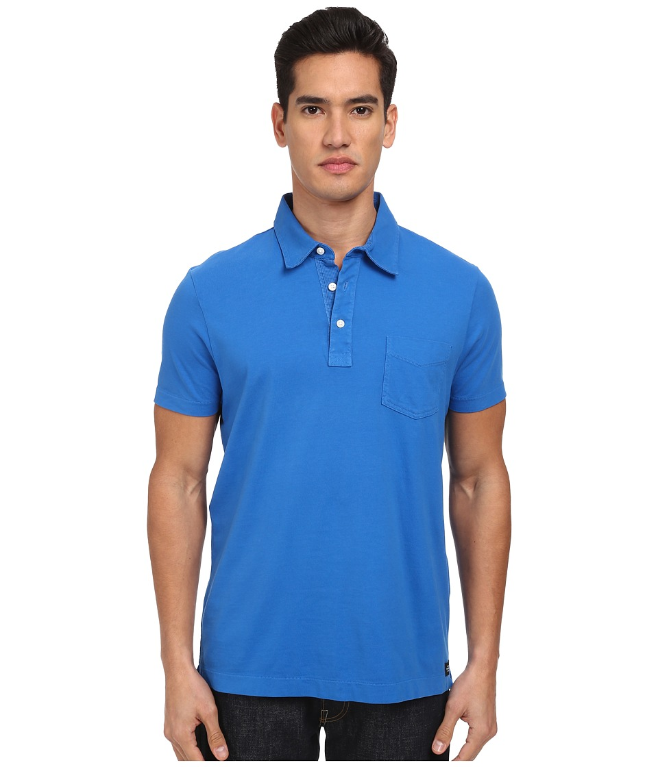 Jack Spade - Solid Warren Polo (Strong Blue) Men's Clothing