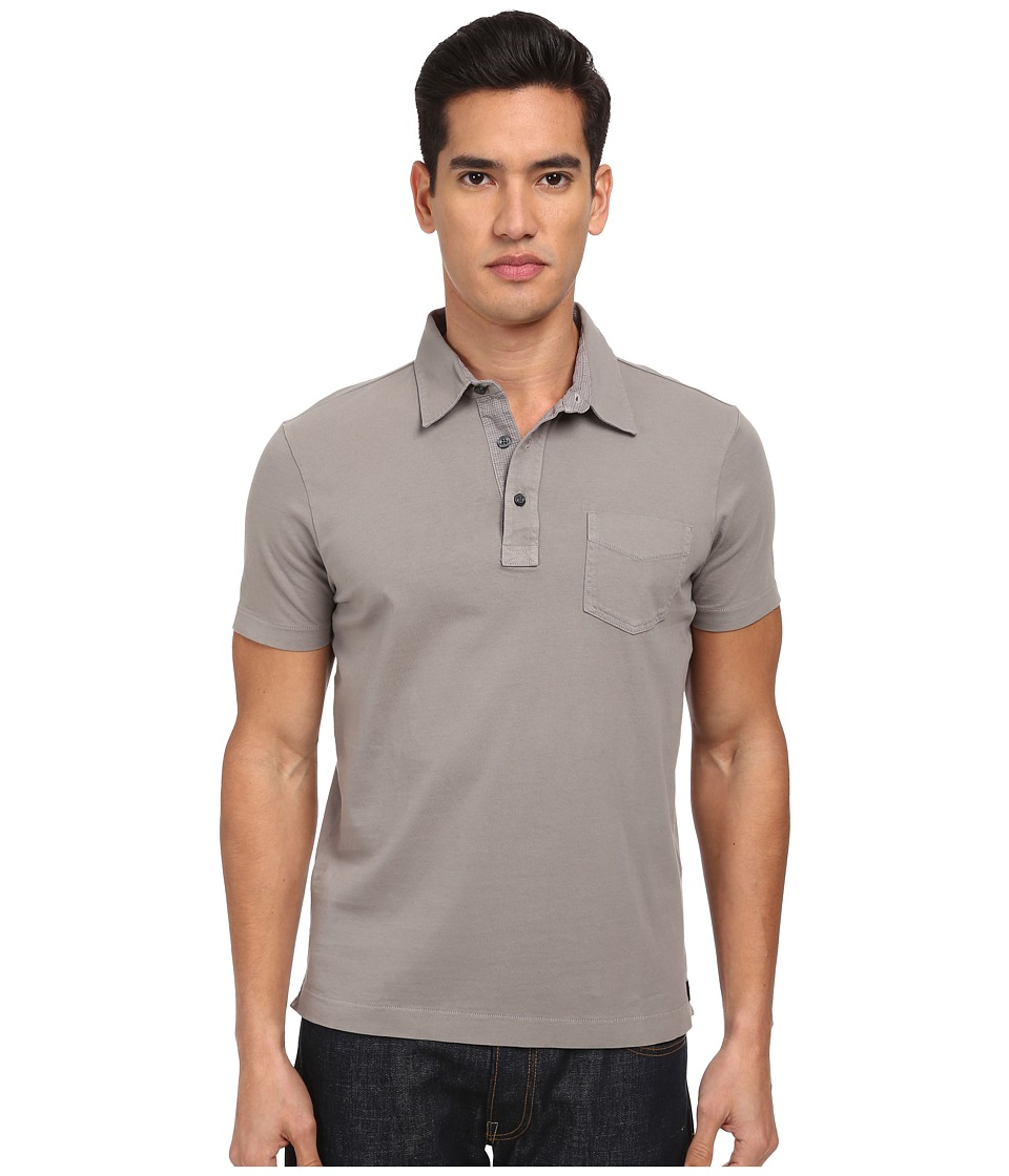 Jack Spade - Solid Warren Polo (Grey) Men's Clothing