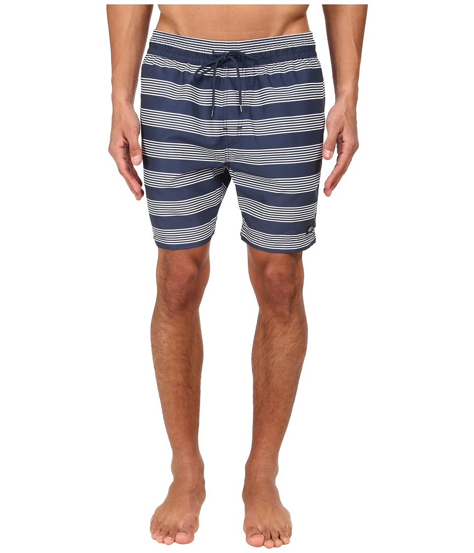 Jack Spade - Stripe Grannis Swim Trunks (Navy Stripe) Men's Swimwear