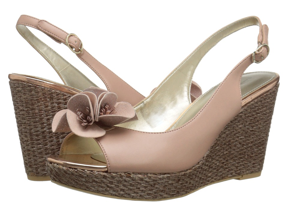 Image of Bandolino - Adalia (Light Pink Synthetic) Women's Wedge Shoes