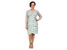 Plus Size Shimmer Shutter Tuck Lace Surplus Dress