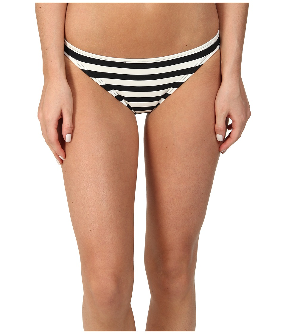 Kate Spade New York - Georgica Beach Stripes Classic Bottom (Black) Women's Swimwear