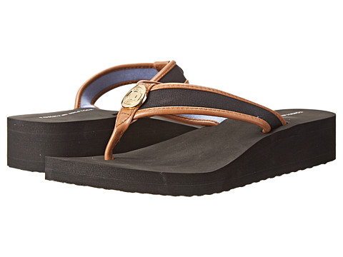 Tommy Hilfiger - Razi (Black/Sable) Women's Sandals