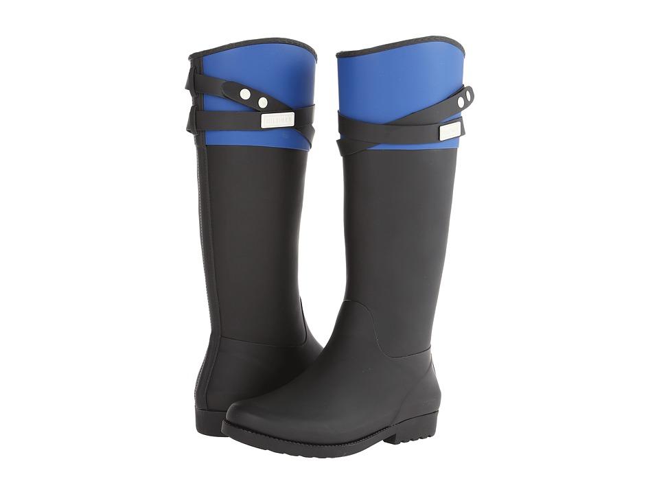 Tommy Hilfiger - Coree (Black/Bright Blue) Women's Rain Boots