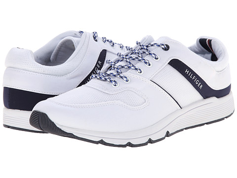 Tommy Hilfiger - Hillari (White/Marine) Women's Lace up casual Shoes
