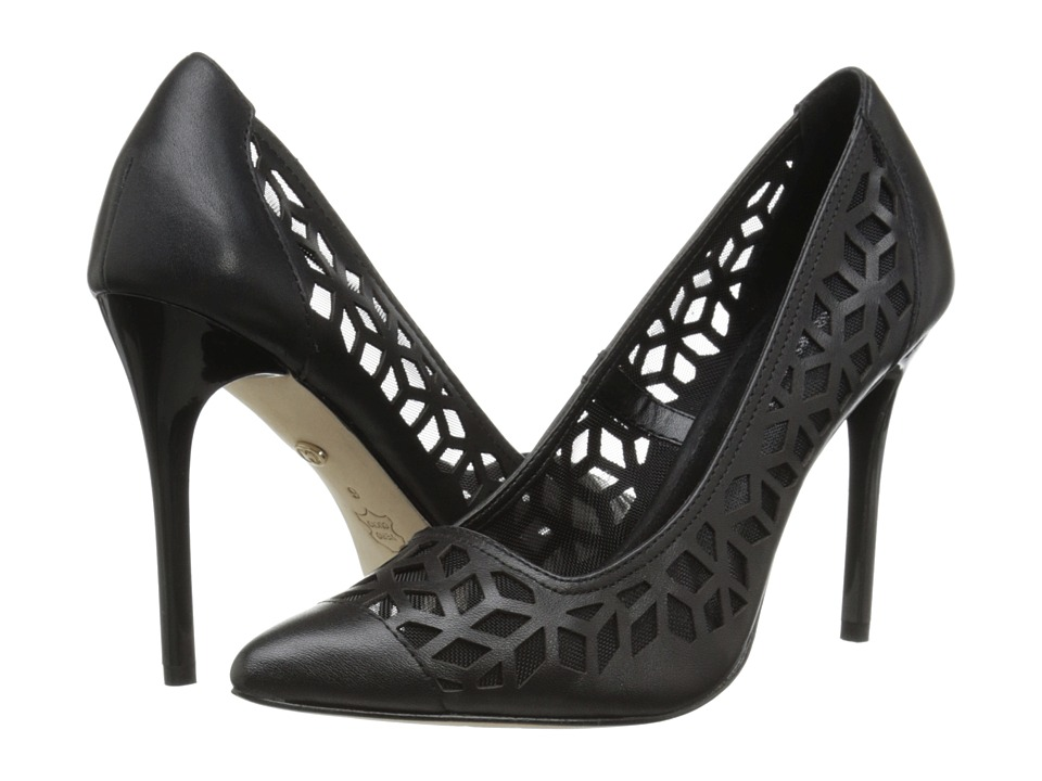 Charles by Charles David - Kaylee (Black Leather/Mesh) High Heels