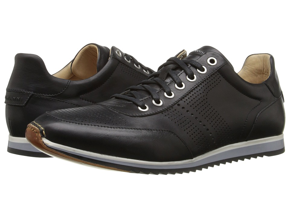 Magnanni - Pueblo (Black) Men's Lace Up Wing Tip Shoes