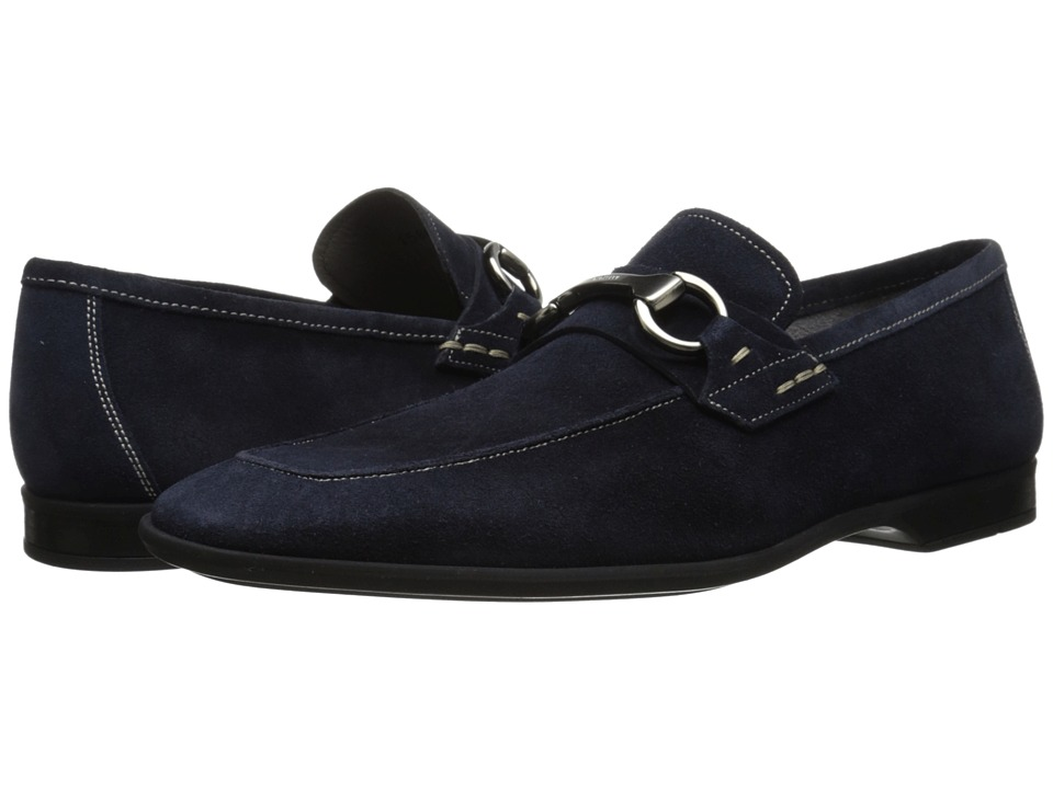 Magnanni - Romo (Navy) Men's Slip on Shoes