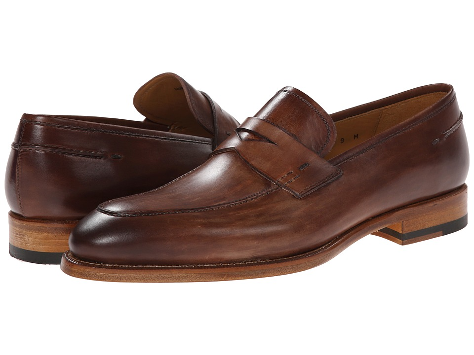 Magnanni - Tevio (Brown) Men's Plain Toe Shoes