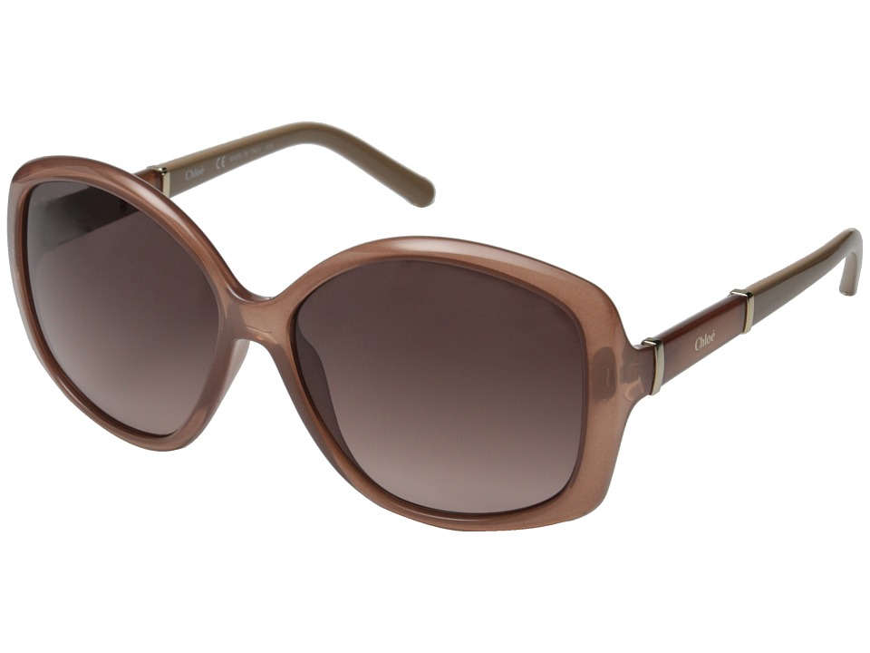 Chloe - Daisy Rectangle (Light Brown) Fashion Sunglasses
