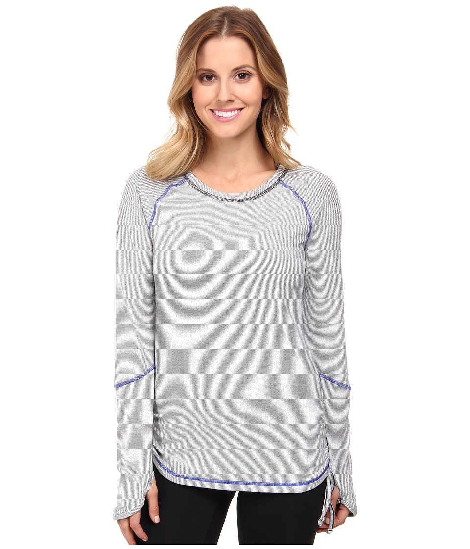 Lucy - Dashing Stripes Long Sleeve (Fossil Stripe) Women's Long Sleeve Pullover
