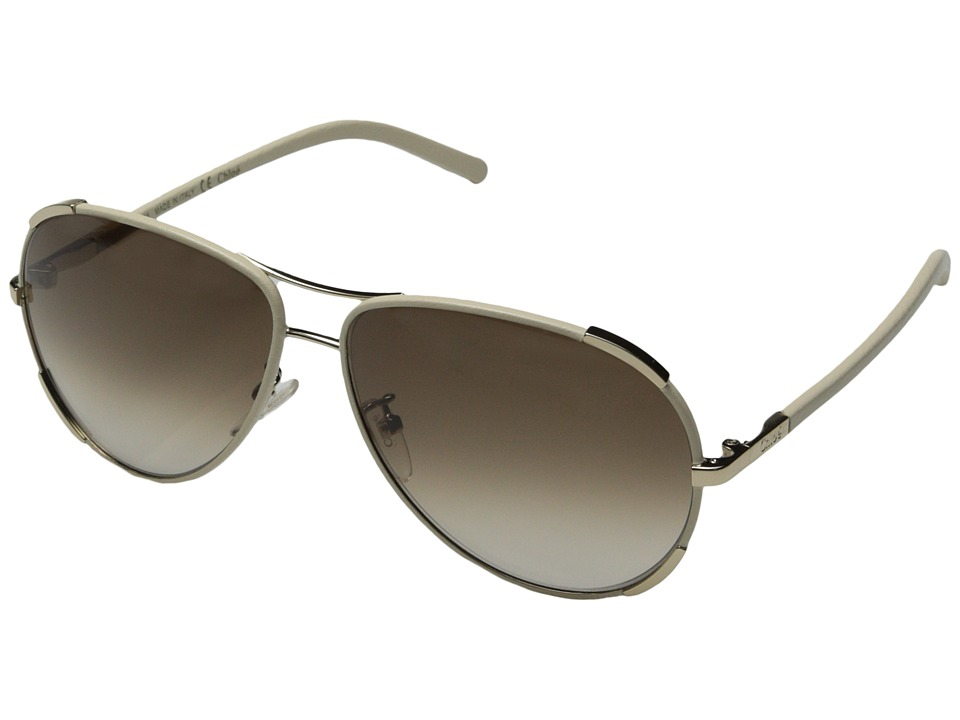 Chloe - Nerine Aviator (Gold/Cream) Fashion Sunglasses