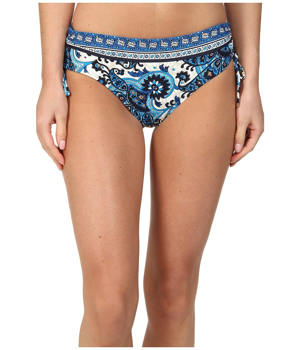 MICHAEL Michael Kors - Padua Paisley Shirred Hipster Bottom (New Navy) Women's Swimwear