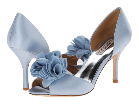 Badgley Mischka - Thora (Light Blue Satin/Chiffon) High Heels