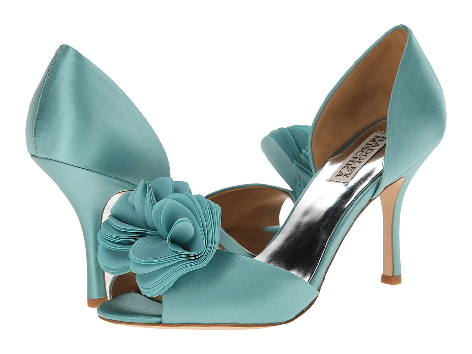 Badgley Mischka - Thora (Blue Satin/Chiffon) High Heels