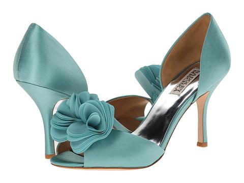 Badgley Mischka - Thora (Blue Satin/Chiffon) High Heels