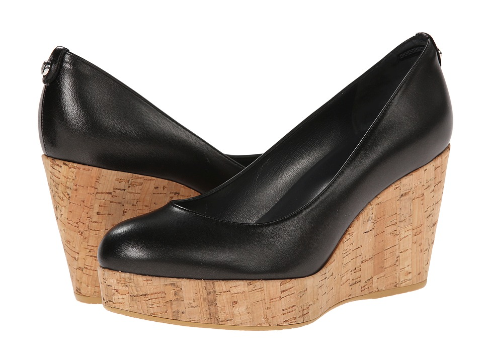 Stuart Weitzman - York (Black Mordore) Women's Wedge Shoes