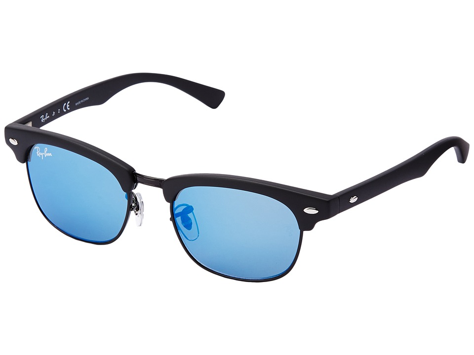 Ray-Ban Junior - RJ9050S Clubmaster 45mm (Youth) (Blue) Fashion Sunglasses