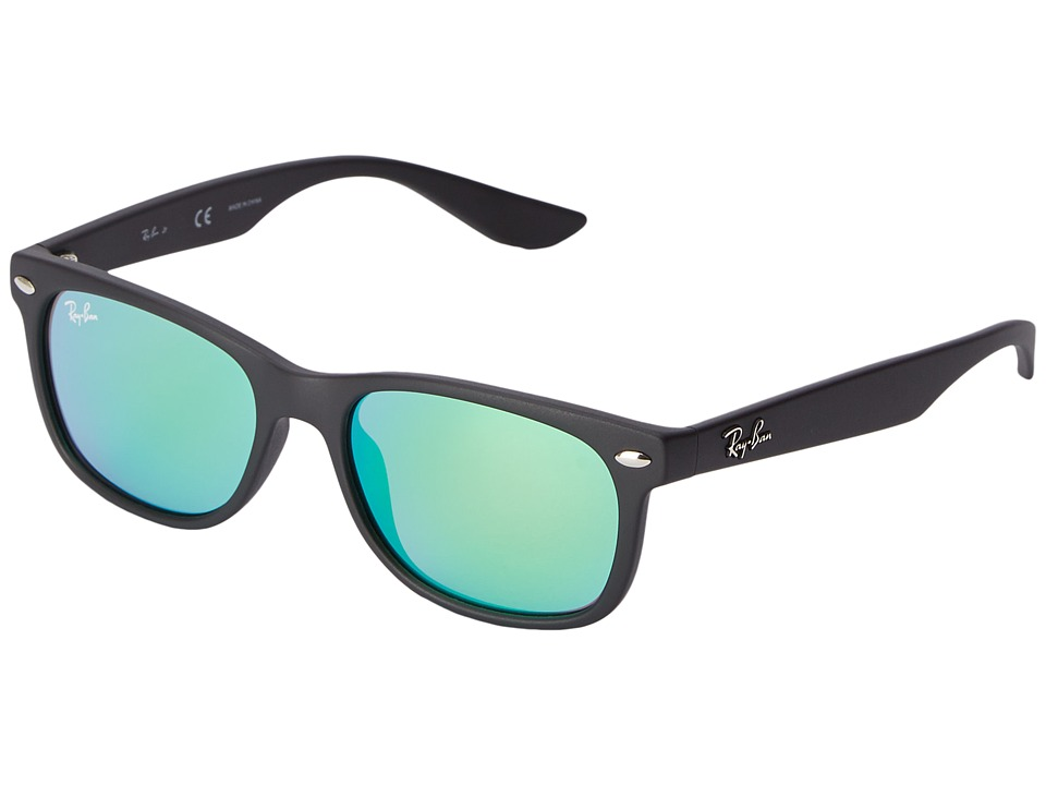 Ray-Ban Junior - RJ9052S New Wayfarer 47mm (Youth) (Green) Fashion Sunglasses