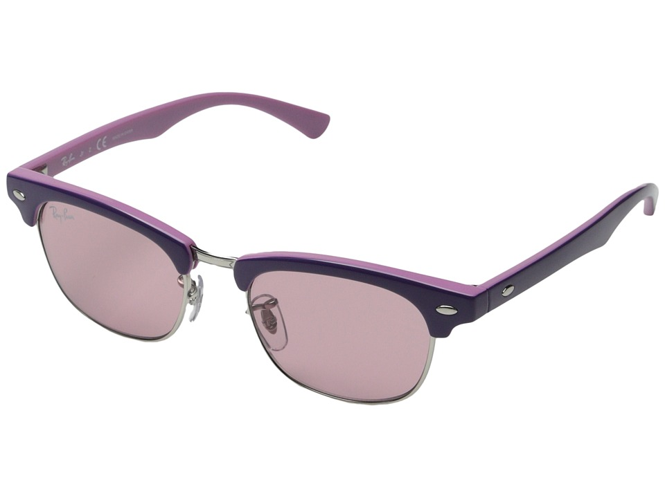 Ray-Ban Junior - RJ9050S Clubmaster 45mm (Youth) (Violet) Fashion Sunglasses