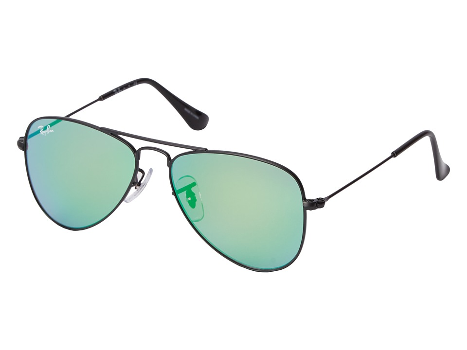 Ray-Ban Junior - RJ9506S Aviator 50mm (Youth) (Green) Fashion Sunglasses