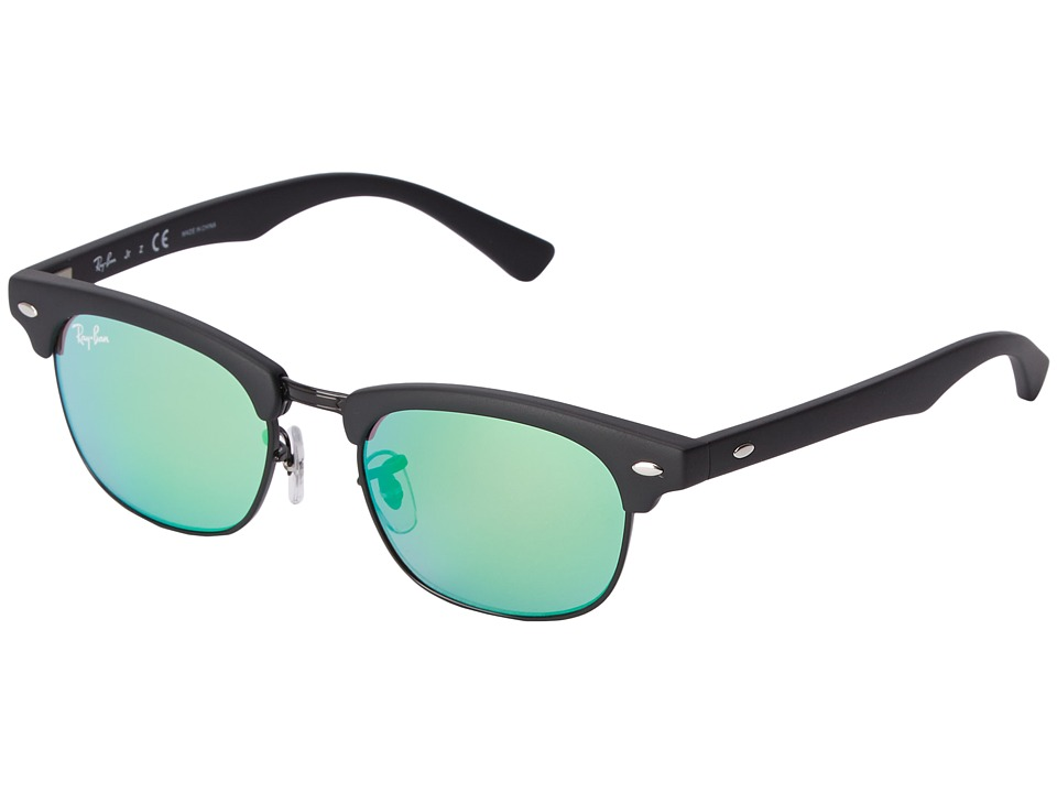 Ray-Ban Junior - RJ9050S Clubmaster 45mm (Youth) (Green) Fashion Sunglasses