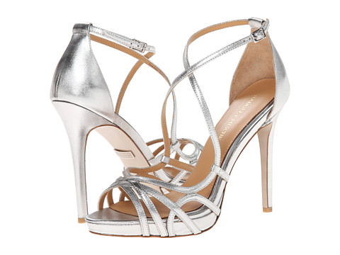 Badgley Mischka - Mega (Silver Metallic Leather) High Heels