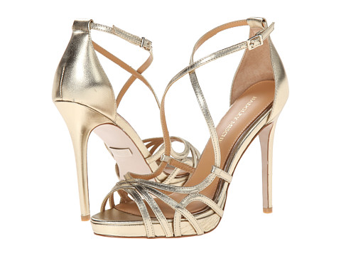 Badgley Mischka - Mega (Platino Metallic Leather) High Heels