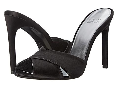 Stuart Weitzman Bridal & Evening Collection - Sarong (Black Satin) High Heels