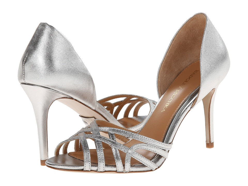 Badgley Mischka - Muse (Silver Metallic Leather) High Heels