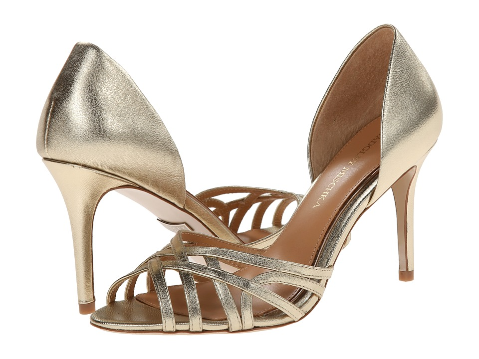 Badgley Mischka - Muse (Platino Metallic Leather) High Heels