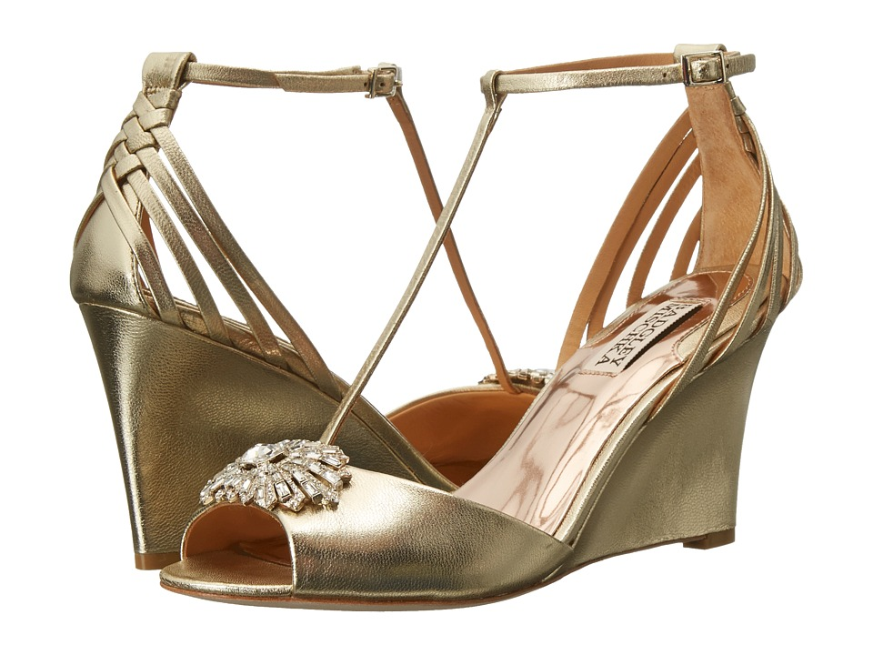 Badgley Mischka Milly II (Platino Metallic Suede) Women