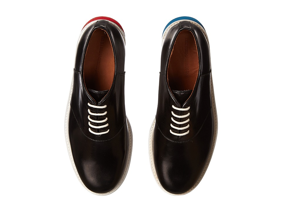 Band of Outsiders - Brushed Cordovan Slipped Heel Saddle Shoe (Black) Men's Lace up casual Shoes