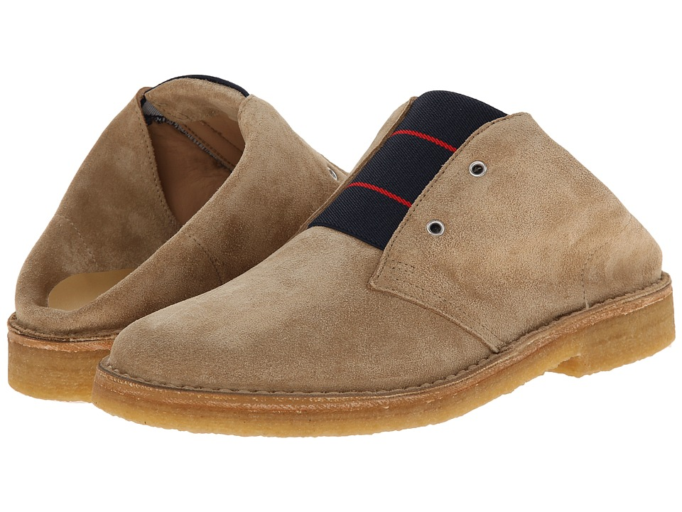 Band of Outsiders - Calf Suede Desert Boot Mule (Khaki) Men's Slip on Shoes