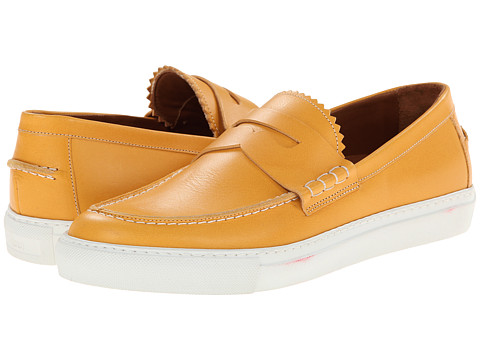 Band of Outsiders - Calf Penny Loafer Sneaker (Marigold) Men's Slip on Shoes