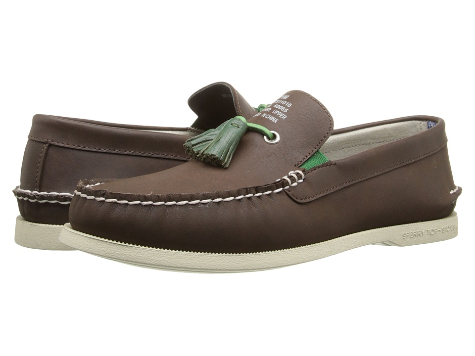 Band of Outsiders - A/O Tassel Boat Shoe (Dark Brown) Men