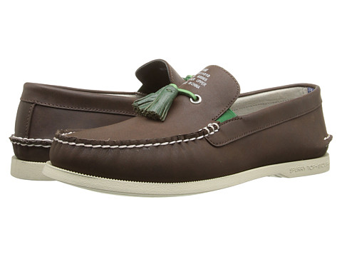 Band of Outsiders - A/O Tassel Boat Shoe (Dark Brown) Men's Slip on Shoes