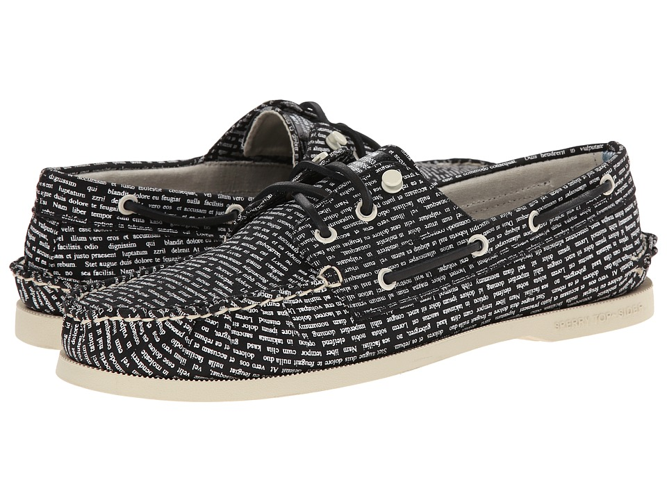 Band of Outsiders - A/O 3-Eye Literary Boat Shoe (Black/White) Men's Slip on Shoes