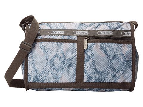 LeSportsac - Deluxe Shoulder Satchel (Aqua Snake) Cross Body Handbags