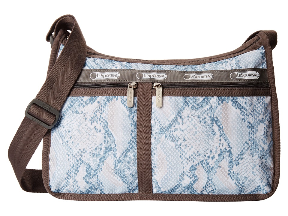 LeSportsac - Deluxe Everyday Bag (Aqua Snake) Cross Body Handbags