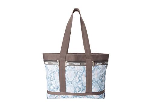 LeSportsac Luggage - Medium Travel Tote (Aqua Snake) Tote Handbags