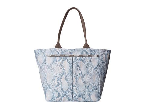 LeSportsac - Everygirl Tote (Aqua Snake) Tote Handbags