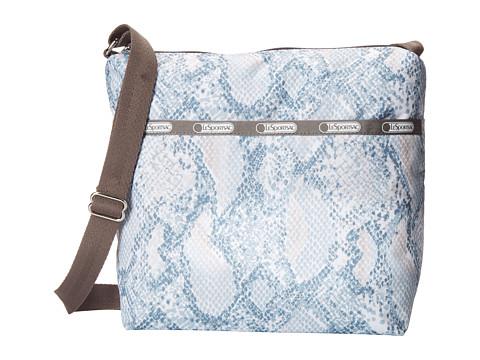 LeSportsac - Small Cleo Crossbody Hobo (Aqua Snake) Cross Body Handbags