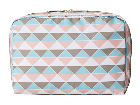 LeSportsac Luggage - XL Rectangular and Square Cosmetic Combo (Pink Pyramid) Travel Pouch