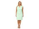 Plus Size Side Pleated Slit Neck Sheath Dress