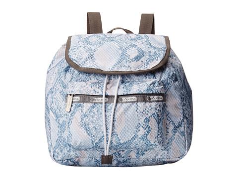 LeSportsac - Small Edie Backpack (Aqua Snake) Backpack Bags