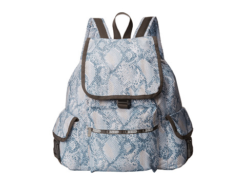 LeSportsac - Voyager Backpack (Aqua Snake) Backpack Bags