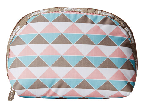 LeSportsac - Medium Dome Cosmetic (Pink Pyramid) Cosmetic Case